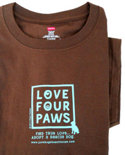Love Four Paws T-shirt
